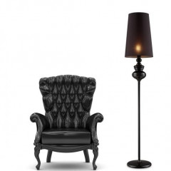 AZzardo Baroco Black Floor - Standleuchte - Elusia.at