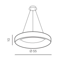 AZzardo Sovana 55 Gray Dimmable - Hängeleuchtes