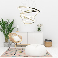 AZzardo Wheel 6 Gold Long Dimmable - Hängeleuchtes